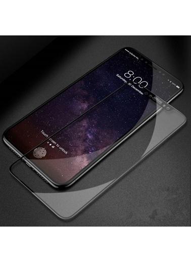 Microsonic iPhone X Tam Kaplayan Temperli Cam Ekran Koruyucu Kırılmaz Film  Siyah